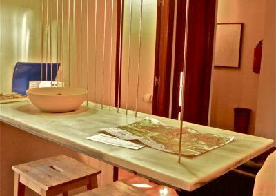 Mesa marmol dibujo
