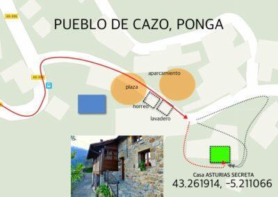 Situación de la casa Asturias Secreta