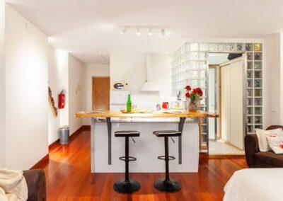 Alojamiento en Oviedo general de cocina y barra